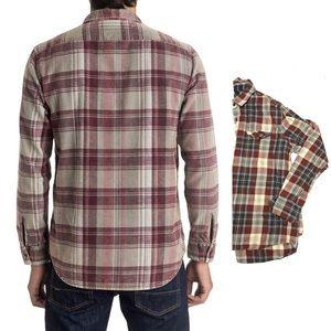 Men's Quicksilver Plaid Flannel Button-Up Size L